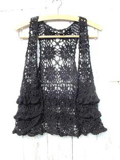 vintage crocheted vest.