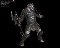 "ArtStation - Middle Earth ""Shadow of Mordor"" Nemesis with DLC armor set., Kristian Bourdage"