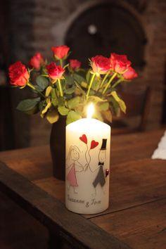 Hochzeitskerzen - Kerzenwachstante