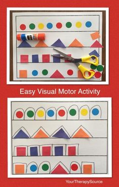 Easy Visual Motor Exercise from www.yourtherapysource.com