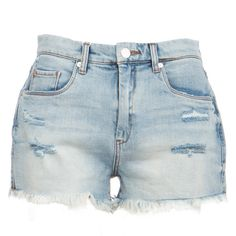 Secret Box High Waisted Denim Shorts by BlankNYC ($78) ❤ liked on Polyvore featuring shorts, blanknyc, high-waisted shorts, high-waisted denim shorts, short jean shorts and jean shorts
