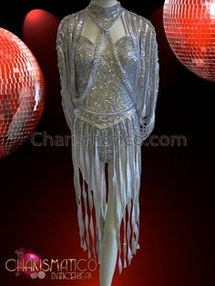 Charismatico Dancewear Store - CHARISMATICO Diva's Metallic Silver Sequin Disco Costume Self Fringed Dance Dress, $220.00 (http://www.charismatico-dancewear.com/charismatico-divas-metallic-silver-sequin-disco-costume-self-fringed-dance-dress/)