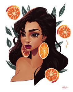 Orange hoops 🍊🍊still mad it's not summer yet!Who enjoys the sun right now? (I envy you) The process of this painting will be available to all my current Patrons and new Patrons! Digital Portrait, Portrait Art, Portraits, Painting Of Girl, Summer Painting, Character Illustration, Illustration Art, Alien Art, Art Drawings Sketches