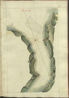 """Cod. 8033 - 16746 - 43 --  João de Castro (1500-1548)  """"Roteiro da costa do norte de Goa, ate Dio, no qual se descrevem todos os portos, alturas, sondas, demarcações, diferenças de agulha que ha em toda esta costa"""". [16--]. BNP Cod. 8033"""