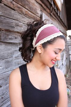 Items similar to chic on the prairie headband on Etsy. , via Etsy. Cute Headbands, Turban Headbands, Diy Headband, Headband Hairstyles, Diy Ribbon Flowers, Hair Fixing, Cute Presents, Headband Tutorial, Diy Hair Accessories