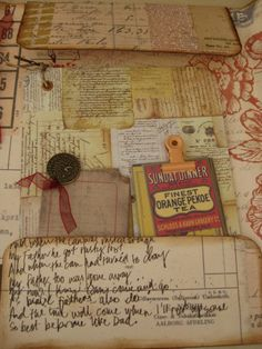 Paper Crafts, Diy Crafts, Junk Journal, Journal Ideas, Smash Book, Altered Books, Ephemera, Embellishments, Stampin Up