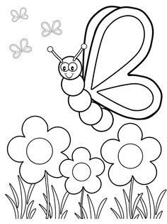 butterfly coloring pages for your toddlers