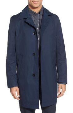 BOSS 'Dais' Trim Fit Cotton Blend Raincoat available at #Nordstrom