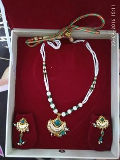 Rajputi jewellery necklace set by Kuldeep Singh