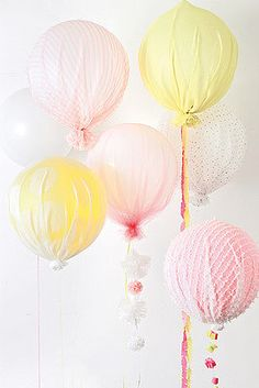 Decorate your next baby or bridal shower with these lovely Upholstered Balloons!
