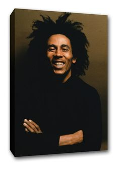 d17d84e5c2 Bob Marley Portrait Reggae Music Framed Canvas Print Wall Art Gift A1 22 x  32 Framed