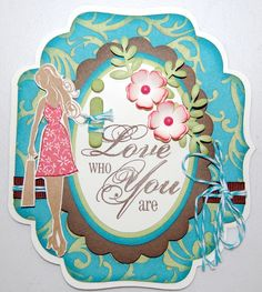 """I love National Scrapbooking Month and the CTMH """"Dotty for You"""" special! I cut this card using the CTMH Circut Art Philosophy cartridge."""