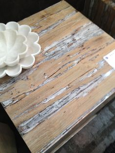 Teak and resin table from Made Goods