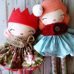 """Just added the last two of the  ready-to-ship dolls to the shop ❤ run and go see! What's in there now is it for 2015!  #spuncandydolls #handmadedolls…"""