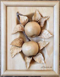 Пейзаж ручной работы. Ярмарка Мастеров - ручная работа. Купить Яблочки. Handmade. Бежевый, подрок, лето, дерево кедр