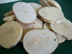 Natural Birch Tree Wood Slices 25 Alaskan Birch Craft Supplies Blank Ornaments Wood Tags Wedding Decor by TheWoodworkingShop on Etsy