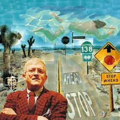 David Hockney was one of the earliest  influences I had in the art world. Back then the idea of taking hundreds of Polaroids of a cross roads in Arizona and building a photomontage out of them was so original and mind blowing, now I could do that in Photoshop in an hour. Hockney's paintings of swimming pools always had be yearning to be in Australia or California too!