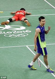 It seemingly should've been Malaysia's Lee Chong Wei (pictured left) who was crying post-match, after he lost his third consecutive Olympic final
