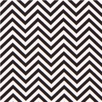 Tela de rayas finas en zig-zag negro y blanco Remix de Robert Kaufman, 13€/m