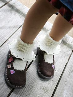 First Grade Socks Pattern by Marina Hayes pattern Knitting For Kids, Baby Knitting Patterns, Crochet For Kids, Baby Patterns, Knitting Projects, Knit Crochet, Lace Socks, Knit Socks, Knitting Socks