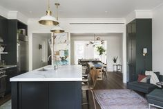 An Unfussy Brooklyn Brownstone Remodel from Architect Elizabeth Roberts: Remodelista Brownstone Interiors, Townhouse Interior, Townhouse Designs, Brooklyn Brownstone, Brooklyn House, Brooklyn Style, Kitchen Ikea, New Kitchen, Condo Kitchen
