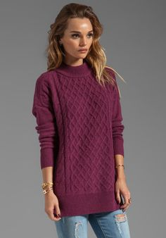 oxblood AND cable knit? heaven!