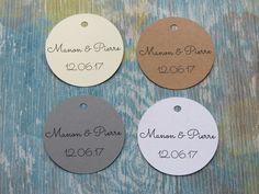 Étiquettes cadeaux de mariage, étiquettes cadeaux personnalisées «Modèle H» de la boutique Lamainalacarte sur Etsy