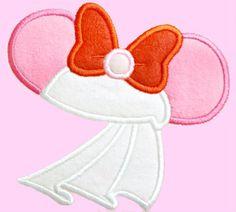 Girl Mouse Bride2  Applique Machine Embroidery by AppliquesByMe