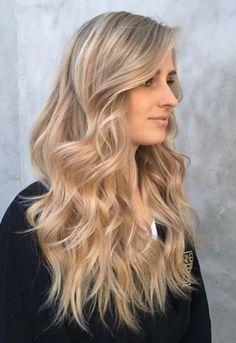 Hair blonde honey dark color and lovely