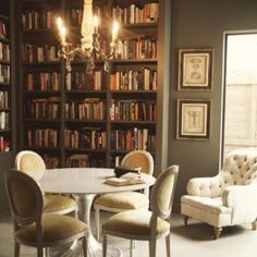 Library, dining room space, study room. The perfect use for my formal dining room.