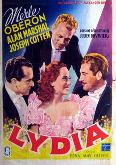 Lydia (1941) Merle Oberon, Alan Marshal and Joseph Cotten.....Uploaded By  www.1stand2ndtimearound.etsy.com