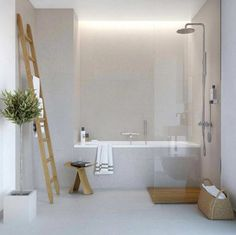 Nice, sleek, clean looking bath and shower room
