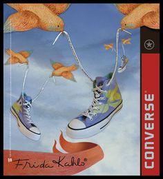 CONVERSE FRIDA KAHLO ads by Alejandro Gutierrez, via Behance