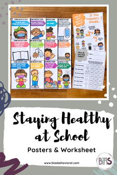 The STAYING HEALTHY AT SCHOOL edition teaches students healthy habits related to mask wearing, hygiene, and more. There is also a flow chart designed to address what might happen if a child feels sick at school, in addition to a worksheet they can fill out to help identify how they are feeling (health-wise.)