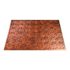 Fasade, Traditional 6 - 18 in. x 24 in. PVC Decorative Backsplash Panel in Moonstone Copper, B56-18 at The Home Depot - Tablet