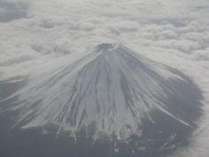 Flying over Mt Fuji!