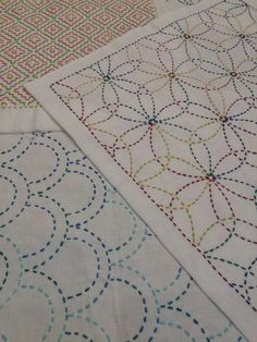 4 H, Sashiko Embroidery, Quilts, Blanket, Rugs, Boro, Home Decor, Dots, Dressmaking