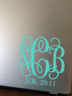 Bible Verse Monogram Vinyl Decal Sticker