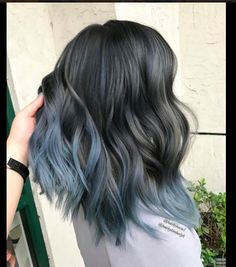 SMOKEY BLUE cred: unknown obsessed with this color for my dark hair girls