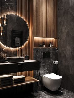 Modern Luxury Bathroom, Bathroom Design Luxury, Modern Bathroom Design, Small Luxury Bathrooms, Wc Design, Toilet Design, Home Room Design, Home Interior Design, Luxury Toilet
