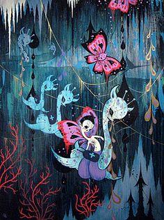 Camille Rose Garcia Art And Illustration, Camilla Rose, Camille Rose Garcia, Witch Art, Lowbrow Art, Artist Painting, Cute Art, New Art, Street Art
