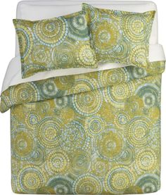 Mosaic Bed Linens in All Decorative Bedding   Crate and Barrel