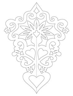 Paper ornaments with flowers templates) Bird Stencil, Damask Stencil, Stencil Patterns, Quilting Designs, Embroidery Designs, Arabesque, Chinese Paper Cutting, Origami Paper Folding, Dragon Sketch