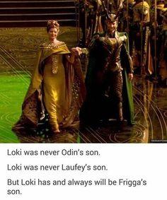 Loki was never Odin's son. Loki was never Laufey's son. But Loki has and always will be Frigga's son. Marvel Dc Comics, Marvel Avengers, Marvel Jokes, Avengers Memes, Archie Comics, Marvel Funny, Marvel Heroes, Loki Funny, Superhero Memes