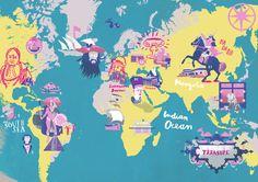 World Map - Christine Roesch