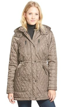 Vince Camuto Detachable Hood Quilted Anorak (Regular & Petite) available at #Nordstrom