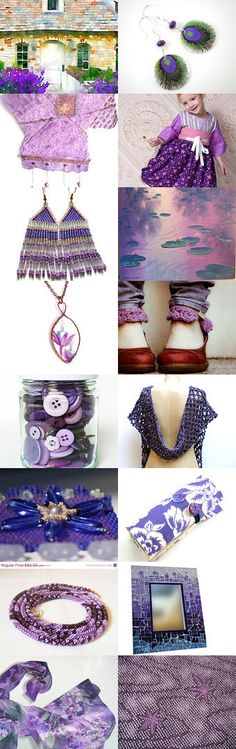 Pretty Purples by Diane Waters on Etsy--Pinned with TreasuryPin.com