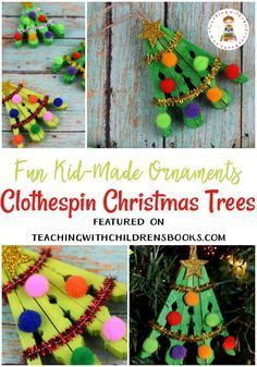 I have such fond memories of making ornaments with my kids. This clothespin Christmas tree ornament will look lovely hanging on yours! #christmas #christmascrafts #christmasornaments #christmastrees #kidscrafts