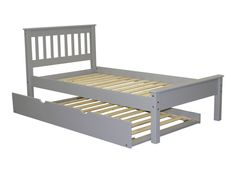 Twin Mission Bed Gray with Trundle