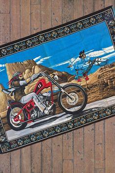 "Original Easyriders David Mann ""Ghost Rider"" Tapestry"